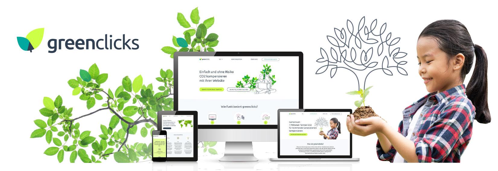 Logodesign und Webdesign für das Startup greenclicks