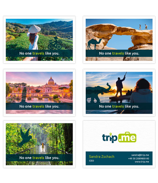trip.me Design Visitenkarten